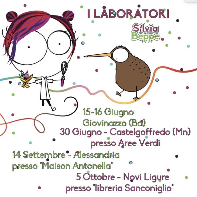 calendario corsi per bambini di pasticceria Silvia e Beppe