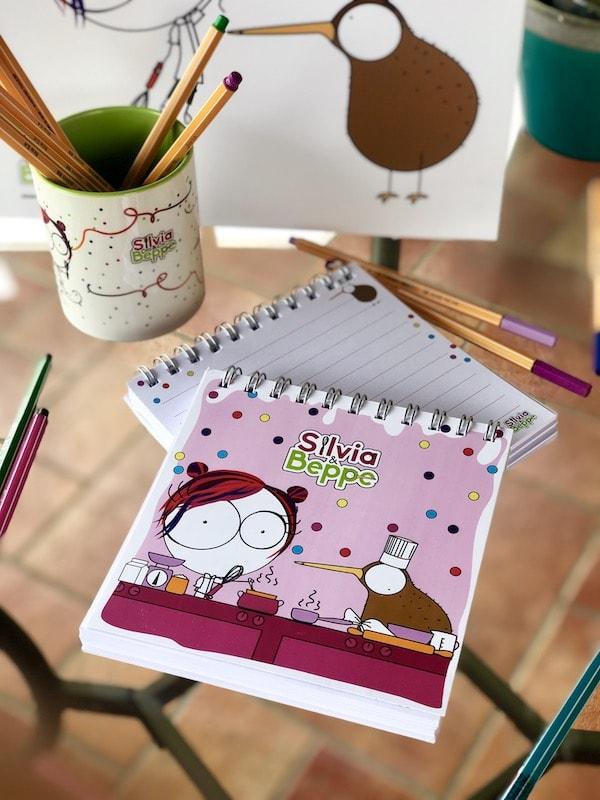blocco illustrato rosa per bambine pasticceri e mamme