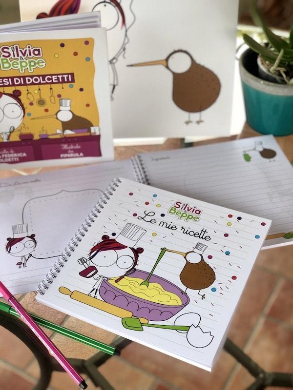 ricettario illustrato da scrivere per bambini pasticceri e mamme