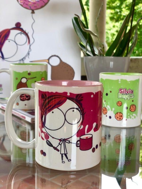 tazza mug da colazione rosa per latte e caffè bambine e mamme