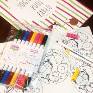 pennarelli alimentari per decorare biscotti con cialdine di zucchero in regalo